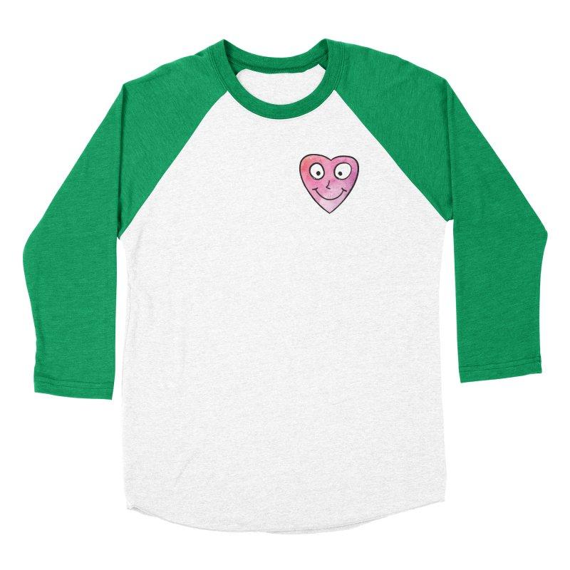 Smiley-Face - Heart Women's Baseball Triblend T-Shirt by Puttyhead's Artist Shop
