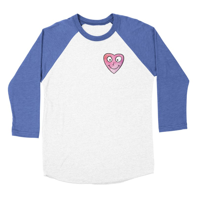 Smiley-Face - Heart Men's Baseball Triblend T-Shirt by Puttyhead's Artist Shop