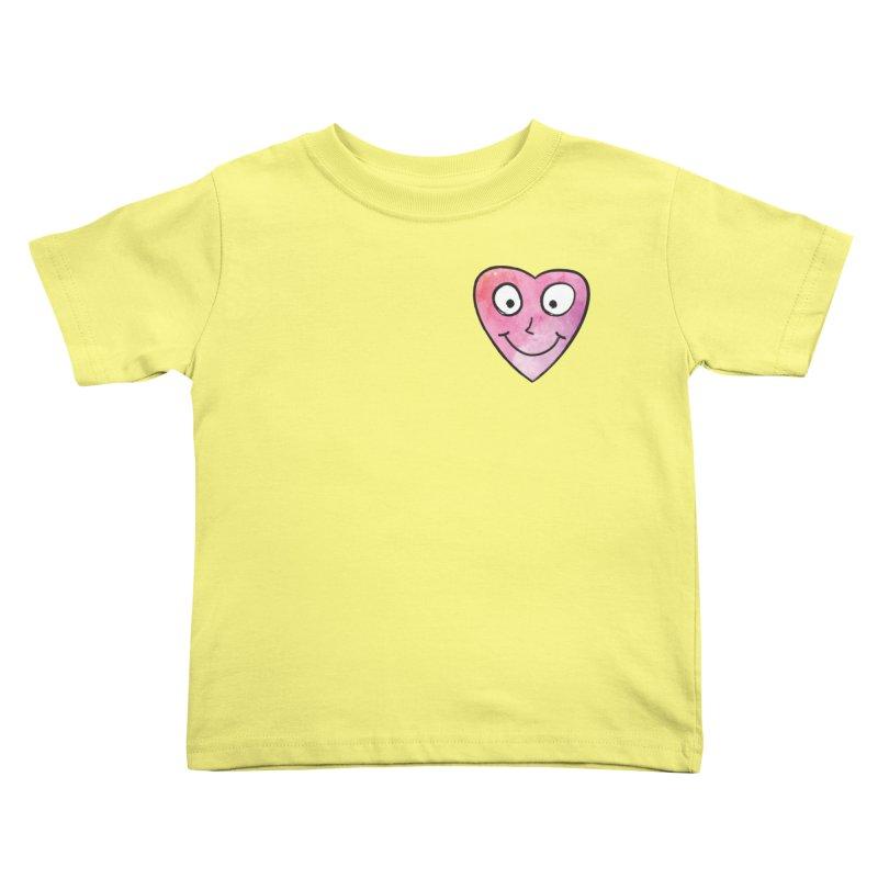 Smiley-Face - Heart Kids Toddler T-Shirt by Puttyhead's Artist Shop