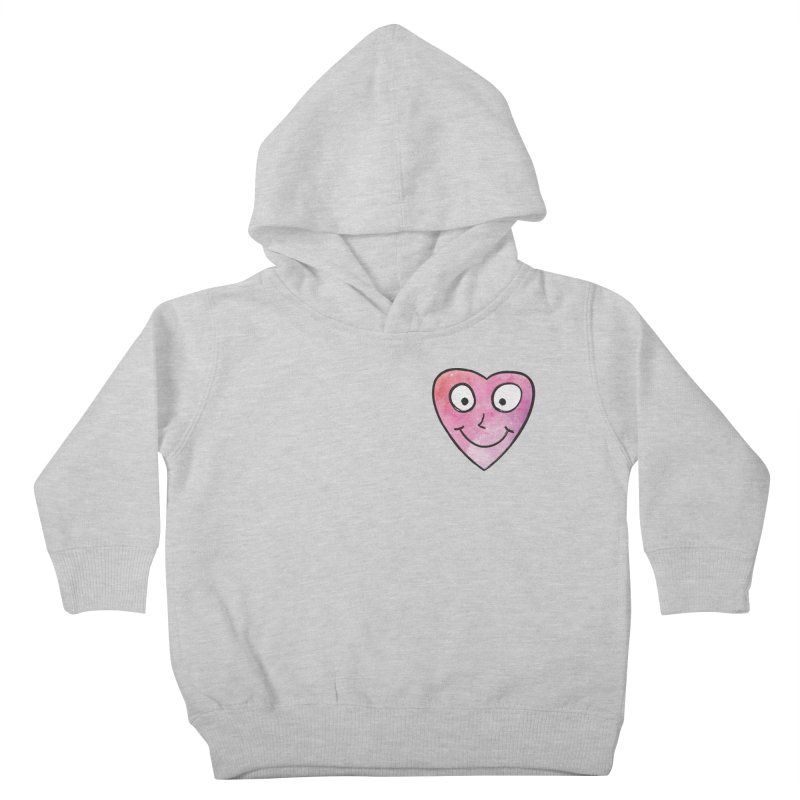 Smiley-Face - Heart Kids Toddler Pullover Hoody by Puttyhead's Artist Shop