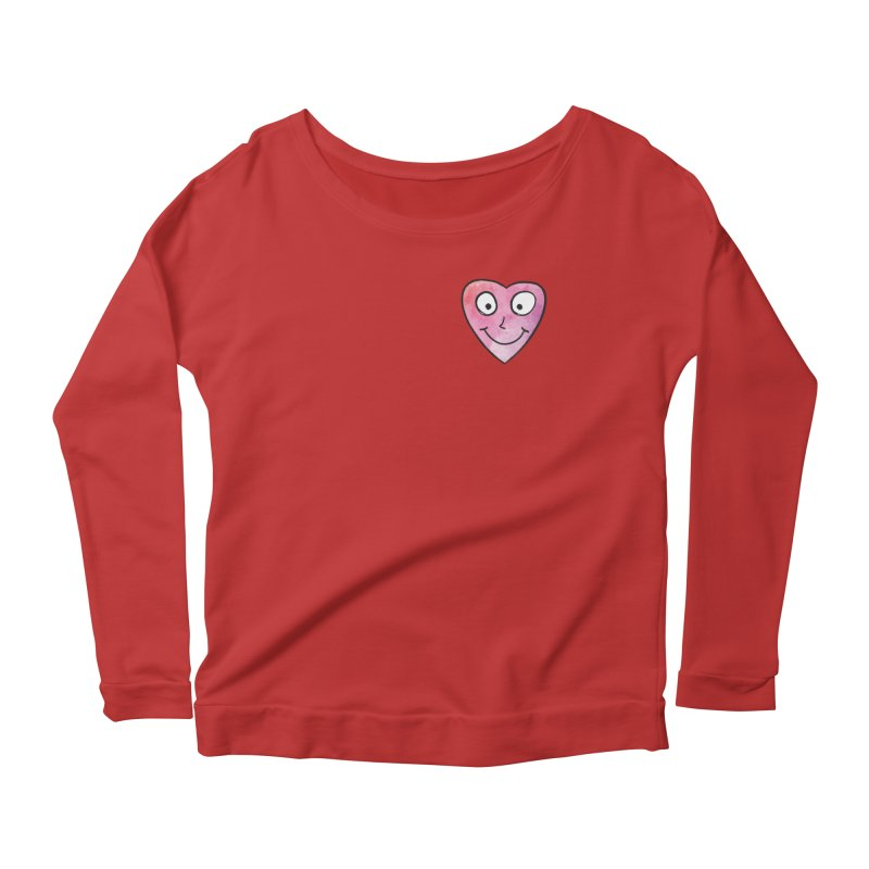Smiley-Face - Heart Women's Longsleeve Scoopneck  by Puttyhead's Artist Shop