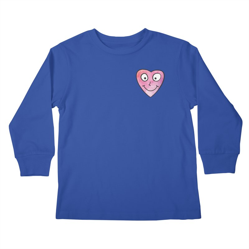 Smiley-Face - Heart Kids Longsleeve T-Shirt by Puttyhead's Artist Shop