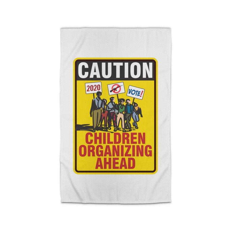 Caution - Children Organizing Home Rug by Puttyhead's Artist Shop