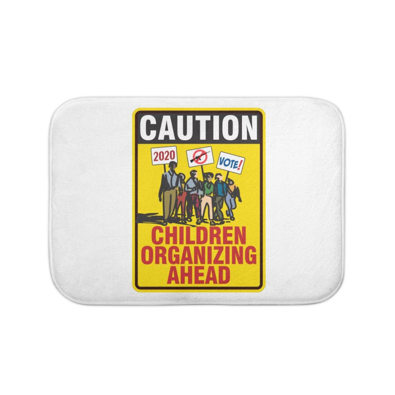 Caution - Children Organizing Home Bath Mat by Puttyhead's Artist Shop
