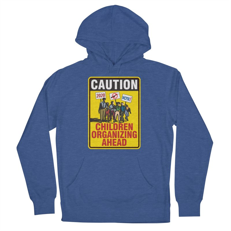 Caution - Children Organizing Women's Pullover Hoody by Puttyhead's Artist Shop