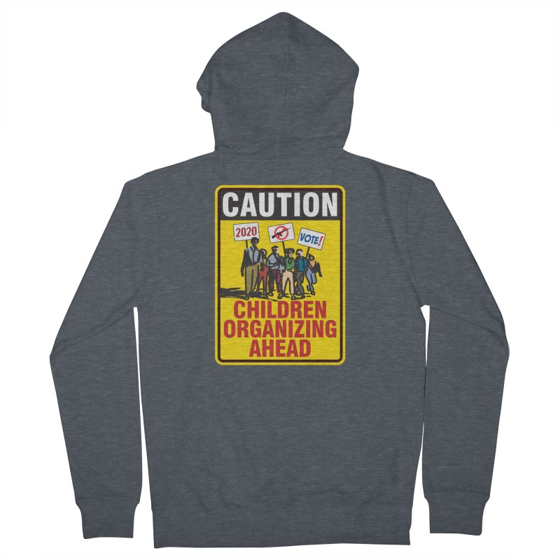 Caution - Children Organizing Women's Zip-Up Hoody by Puttyhead's Artist Shop
