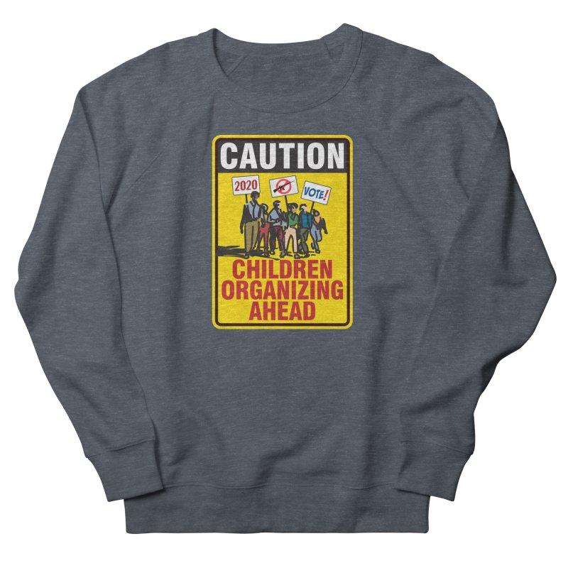 Caution - Children Organizing Men's Sweatshirt by Puttyhead's Artist Shop