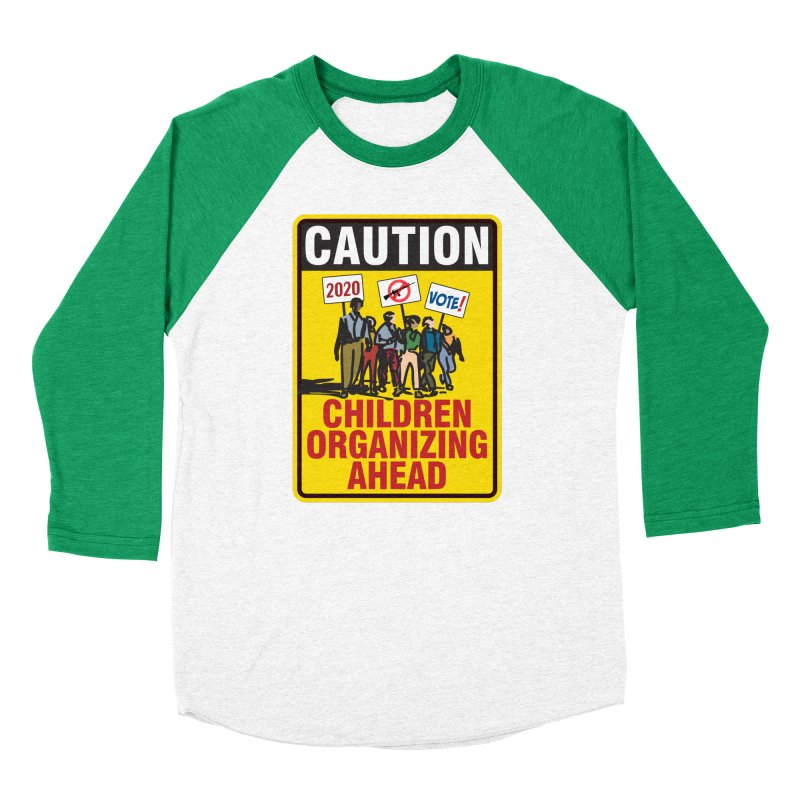 Caution - Children Organizing Men's Baseball Triblend T-Shirt by Puttyhead's Artist Shop