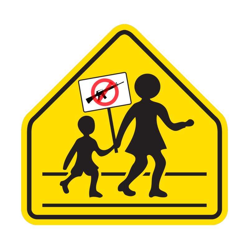 Children Crossing against Guns None  by Puttyhead's Artist Shop