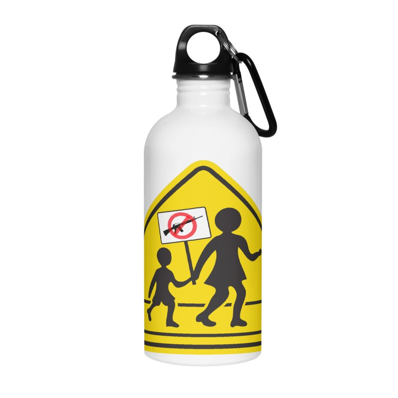 Children Crossing against Guns Accessories Water Bottle by Puttyhead's Artist Shop