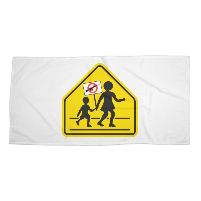 Children Crossing against Guns Accessories Beach Towel by Puttyhead's Artist Shop