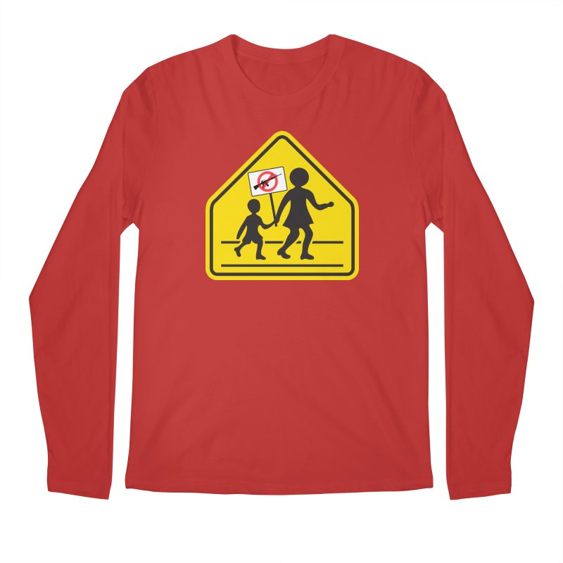 Children Crossing against Guns Men's Longsleeve T-Shirt by Puttyhead's Artist Shop