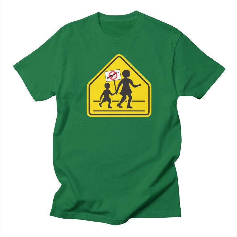 Children Crossing against Guns Women's Unisex T-Shirt by Puttyhead's Artist Shop