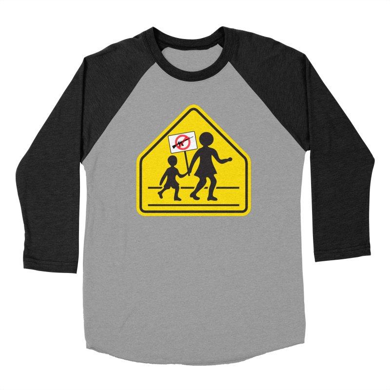 Children Crossing against Guns Women's Baseball Triblend T-Shirt by Puttyhead's Artist Shop