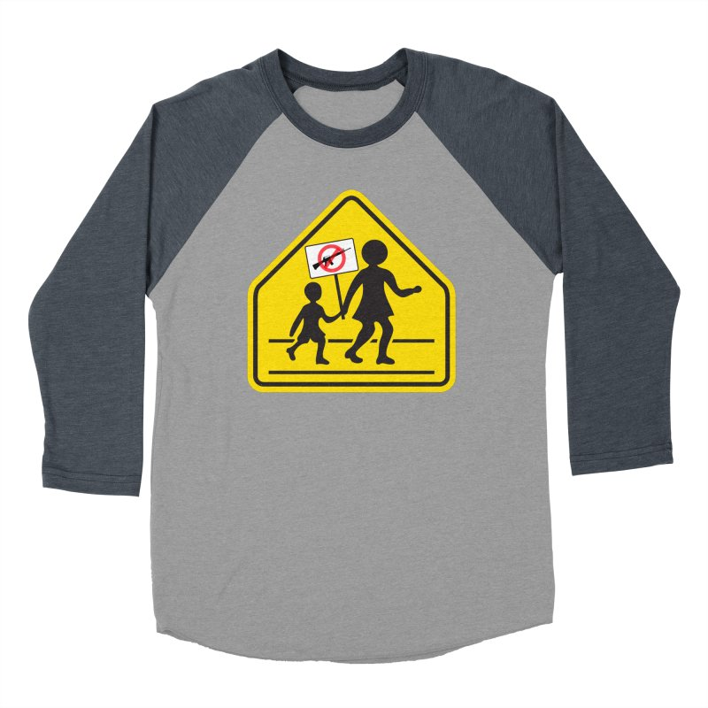 Children Crossing against Guns Men's Baseball Triblend T-Shirt by Puttyhead's Artist Shop