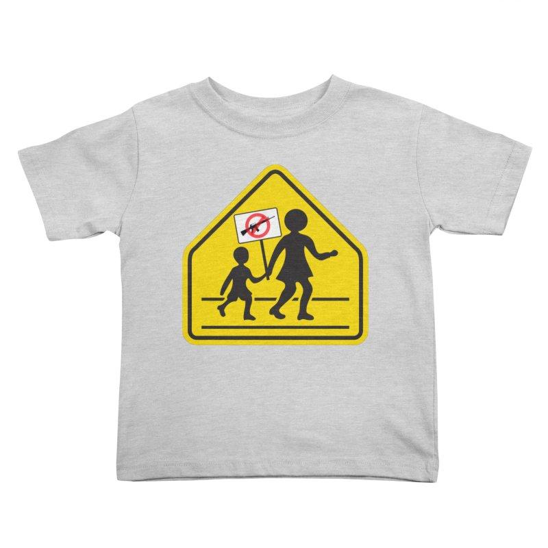 Children Crossing against Guns Kids Toddler T-Shirt by Puttyhead's Artist Shop