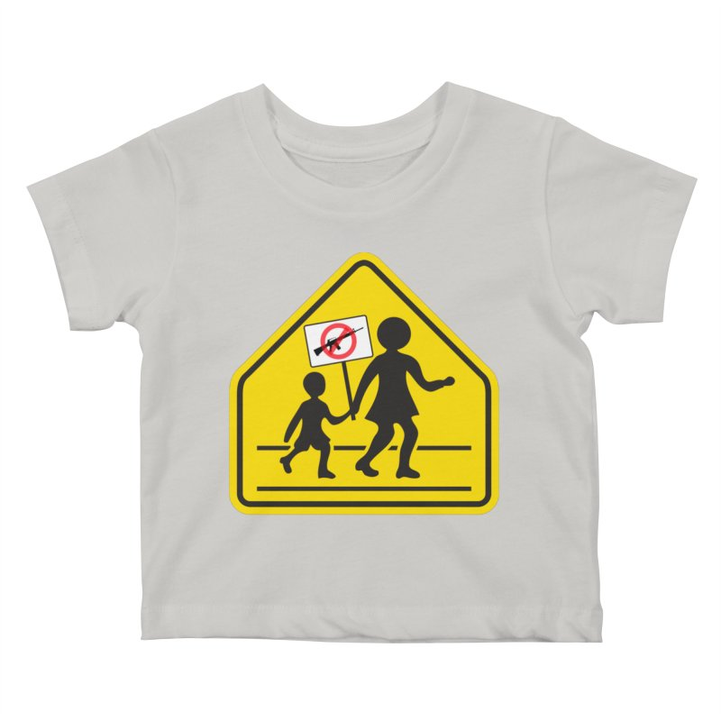 Children Crossing against Guns Kids Baby T-Shirt by Puttyhead's Artist Shop