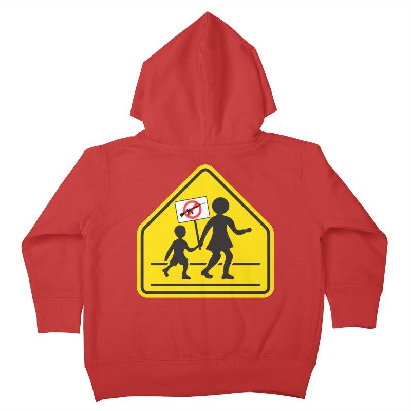 Children Crossing against Guns Kids Toddler Zip-Up Hoody by Puttyhead's Artist Shop