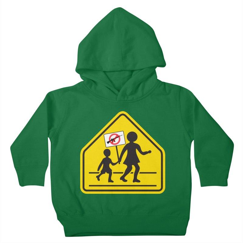 Children Crossing against Guns Kids Toddler Pullover Hoody by Puttyhead's Artist Shop