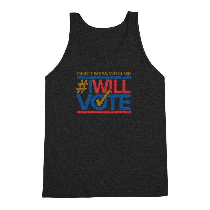 I Will Vote Men's Triblend Tank by Puttyhead's Artist Shop