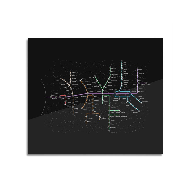 Moons Transit Dark Home Mounted Acrylic Print by Puttyhead's Artist Shop