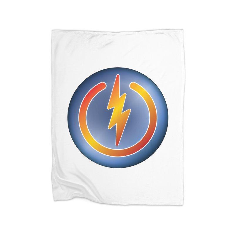 Power Button Home Blanket by Puttyhead's Artist Shop