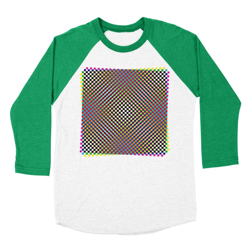 Moire 1 Men's Baseball Triblend T-Shirt by Puttyhead's Artist Shop