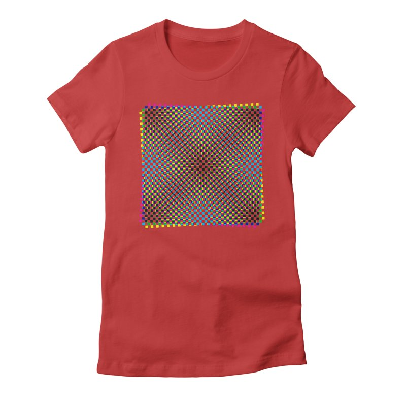 Moire 1 Women's Fitted T-Shirt by Puttyhead's Artist Shop
