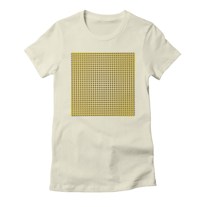 Moire 2 Women's Fitted T-Shirt by Puttyhead's Artist Shop