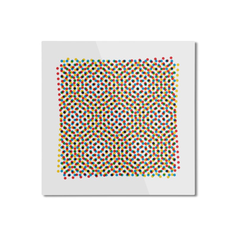 Moire 3 Home Mounted Aluminum Print by Puttyhead's Artist Shop