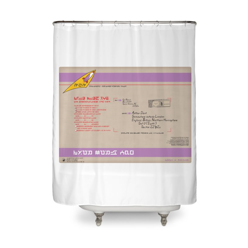 Priority Intergalactic Post Box Home Shower Curtain by Puttyhead's Artist Shop