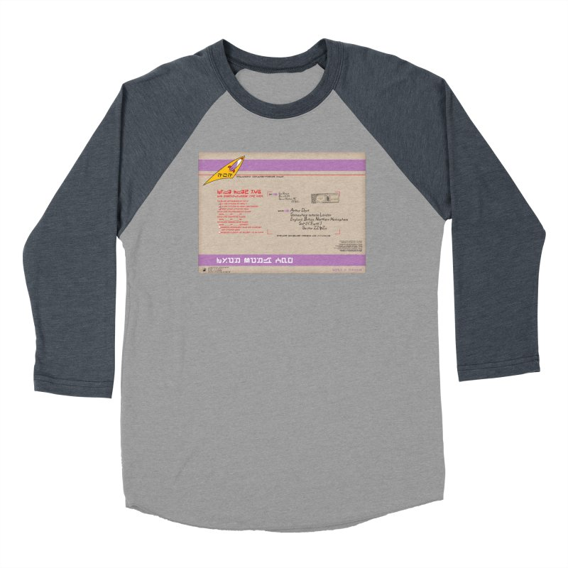 Priority Intergalactic Post Box Men's Baseball Triblend T-Shirt by Puttyhead's Artist Shop