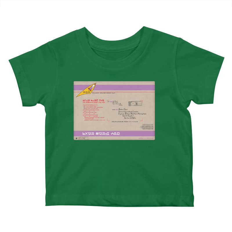 Priority Intergalactic Post Box Kids Baby T-Shirt by Puttyhead's Artist Shop
