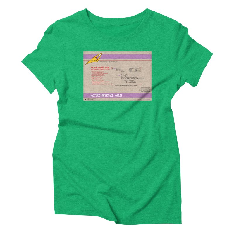 Priority Intergalactic Post Box Women's Triblend T-Shirt by Puttyhead's Artist Shop