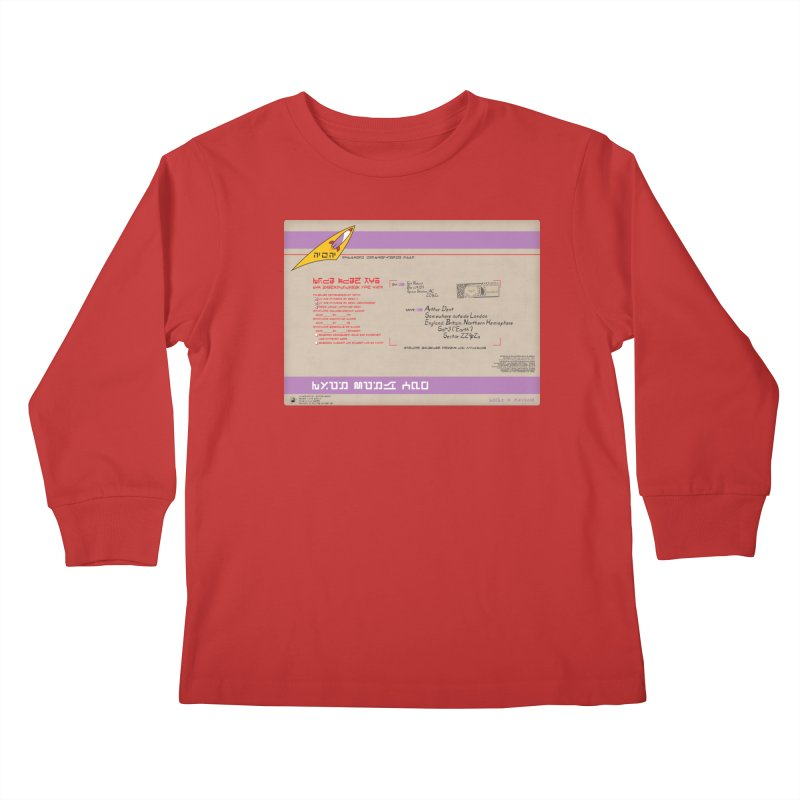 Priority Intergalactic Post Box Kids Longsleeve T-Shirt by Puttyhead's Artist Shop