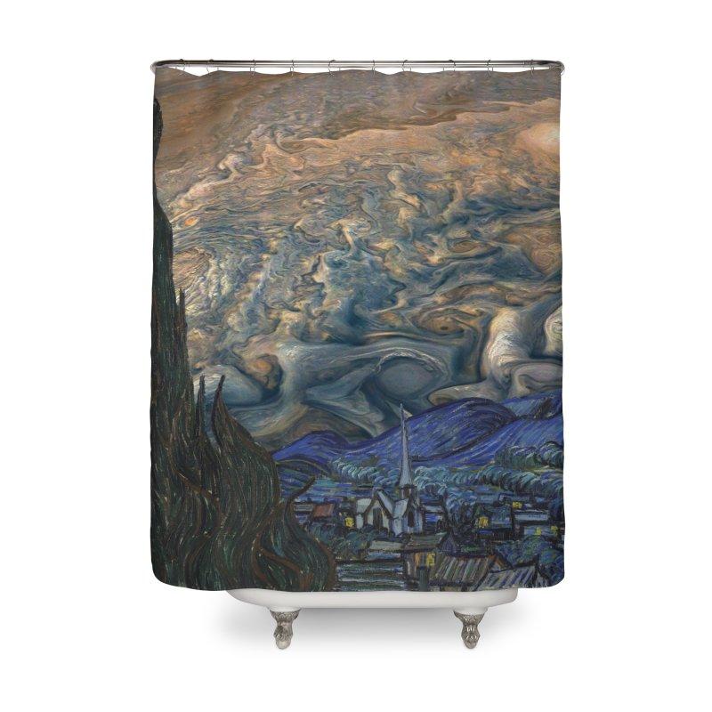 Jupiter Night Home Shower Curtain by Puttyhead's Artist Shop