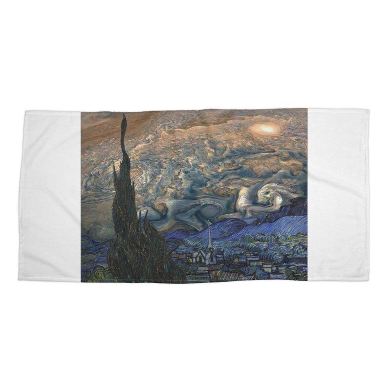 Jupiter Night Accessories Beach Towel by Puttyhead's Artist Shop