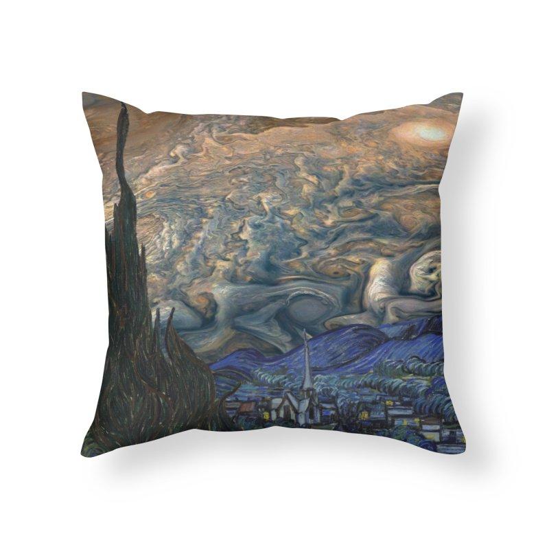 Jupiter Night Home Throw Pillow by Puttyhead's Artist Shop