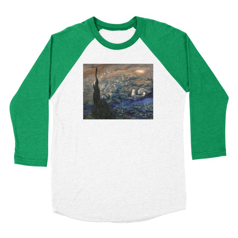 Jupiter Night Men's Baseball Triblend T-Shirt by Puttyhead's Artist Shop