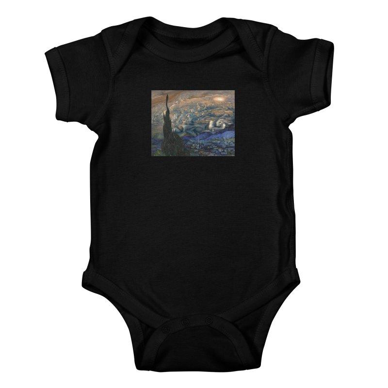 Jupiter Night Kids Baby Bodysuit by Puttyhead's Artist Shop