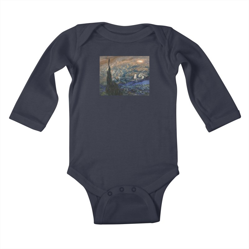 Jupiter Night Kids Baby Longsleeve Bodysuit by Puttyhead's Artist Shop