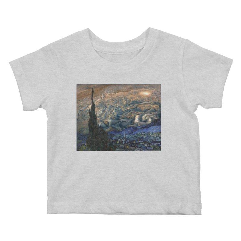 Jupiter Night Kids Baby T-Shirt by Puttyhead's Artist Shop