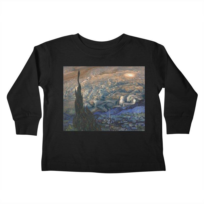 Jupiter Night Kids Toddler Longsleeve T-Shirt by Puttyhead's Artist Shop