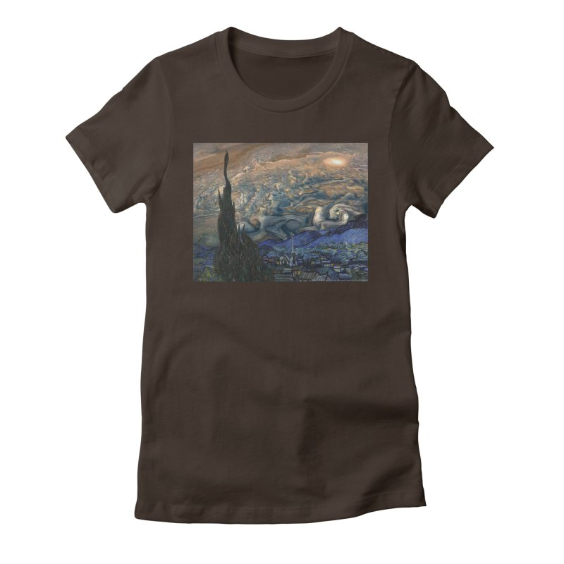 Jupiter Night Women's Fitted T-Shirt by Puttyhead's Artist Shop