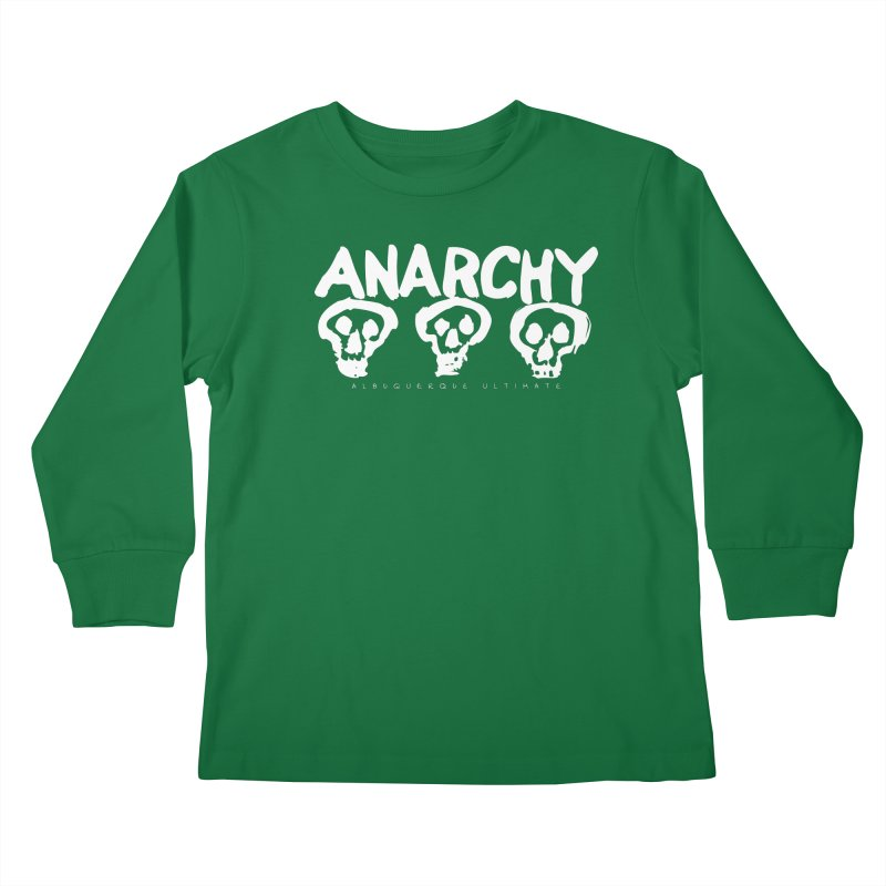 Anarchy Ultimate (White) Kids Longsleeve T-Shirt by Puttyhead's Artist Shop