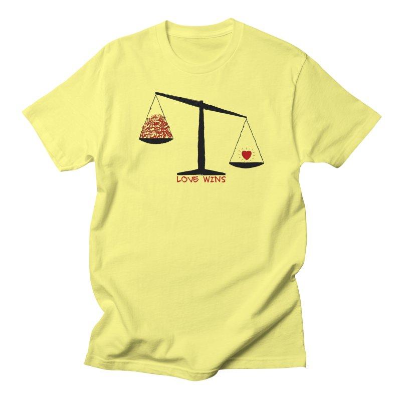Love Wins Men's T-Shirt by Puttyhead's Artist Shop