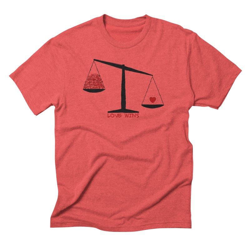 Love Wins Men's Triblend T-Shirt by Puttyhead's Artist Shop