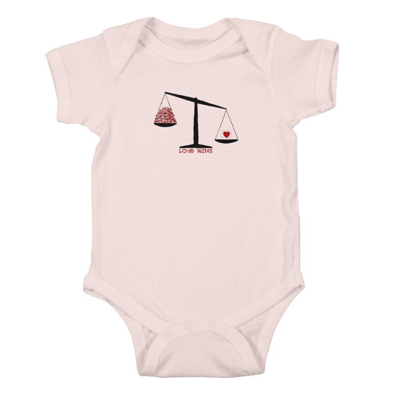 Love Wins Kids Baby Bodysuit by Puttyhead's Artist Shop