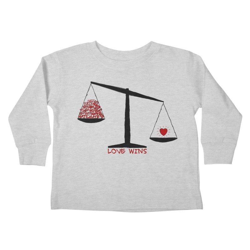 Love Wins Kids Toddler Longsleeve T-Shirt by Puttyhead's Artist Shop