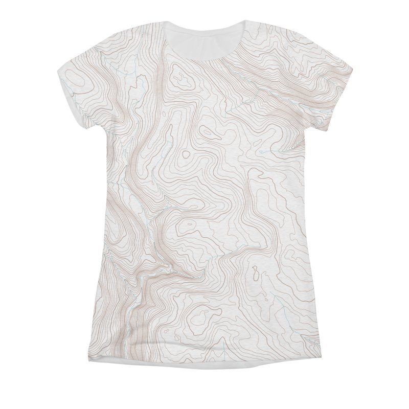 Topo T Women's Triblend All Over Print by Puttyhead's Artist Shop